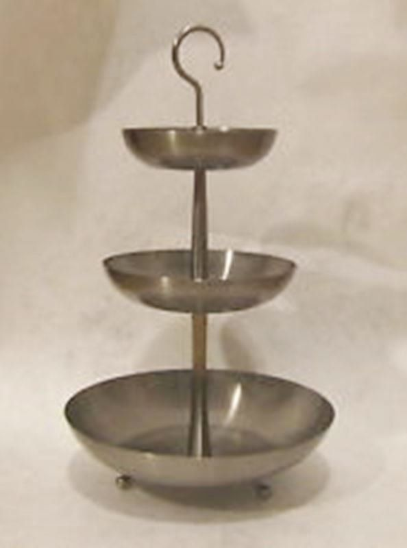 Ikea Lillholmen Stainless Steel 3 Tier Tray Ball Footed Stand By Treasurehuntventura On Etsy Serving Stand Tiered Tray Tiered