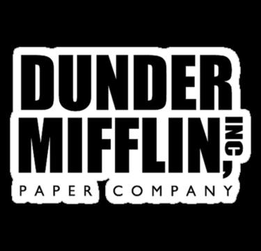 Dunder Mifflin Inc By Haqstar Paper Companies The Office Stickers Logo Sticker