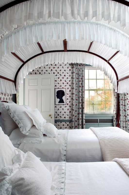 These Twin Beds Are To Die For The Canopy Tops And Arched