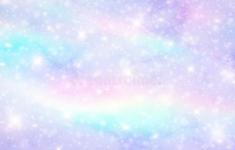 Vector Illustration Of Galaxy Fantasy Background And Pastel Color The Unicorn In Pastel Sky With Rainbow Pastel Cl Pastel Sky Fantasy Background Pastel Clouds
