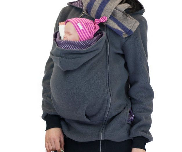 Kangaroo Pouch Hoodie Hoodie Baby Carrying Baby Wearing