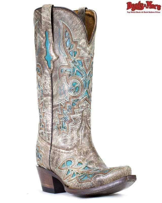 Boots n more teal inlays