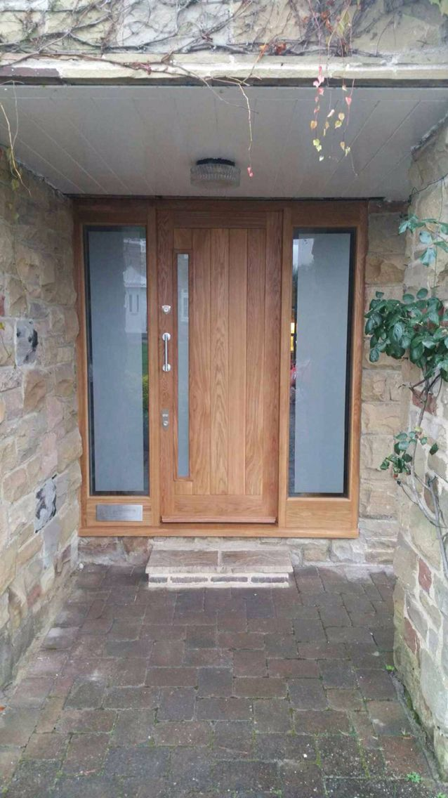 Solid oak door and side light frame by Chase Joinery Products : doors derry - pezcame.com
