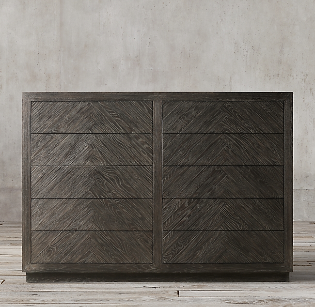 Herringbone 10drawer Dresser Dresser drawers, Dresser