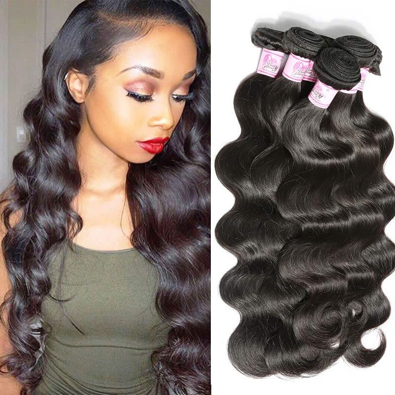 Natural color body wave brazilian virgin hair glueless full lace.
