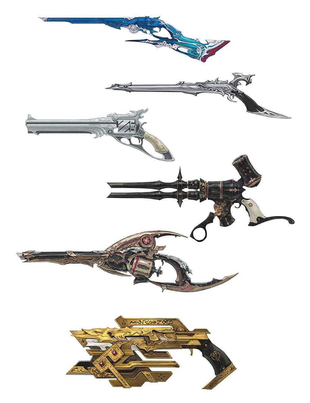 Machinist Guns From Final Fantasy Xiv Heavensward Armas