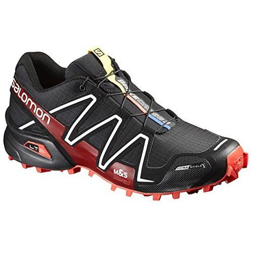 2ec287afdf54 ... shoes ensures you the perfect running experience. Salomon Unisex  Spikecross 3 CS Black Radiant Red White Sneaker
