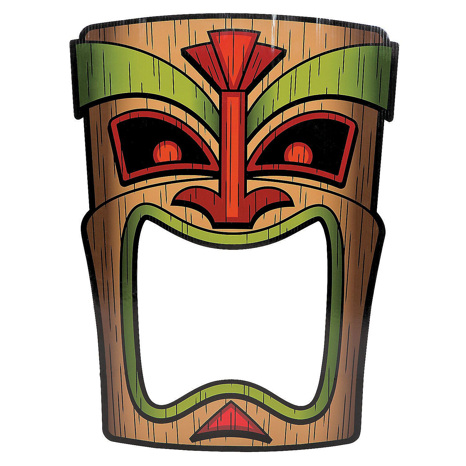 Tiki photo prop use a pot paint or for Tiki hawaiano