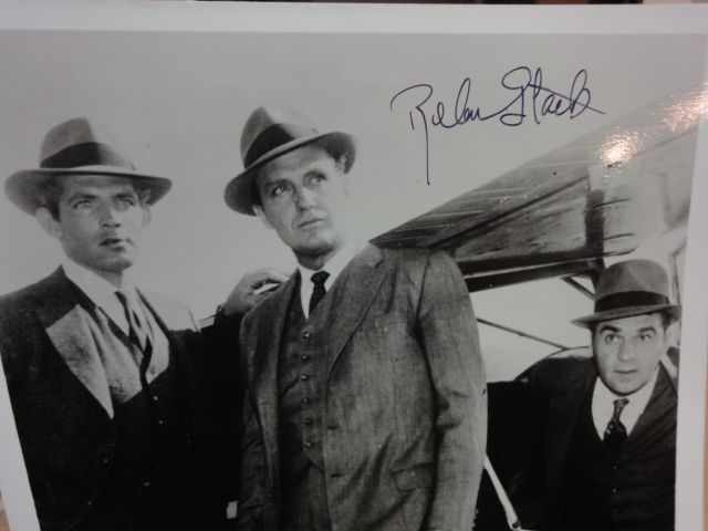 """Eliot Ness Real Story   Robert Stack """"Untouchables"""" Photo Signed Autograph Television Scene"""