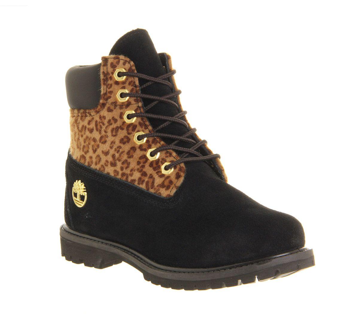 black timberland heels for women
