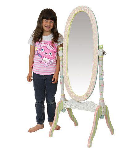 Crackle Standing Mirror