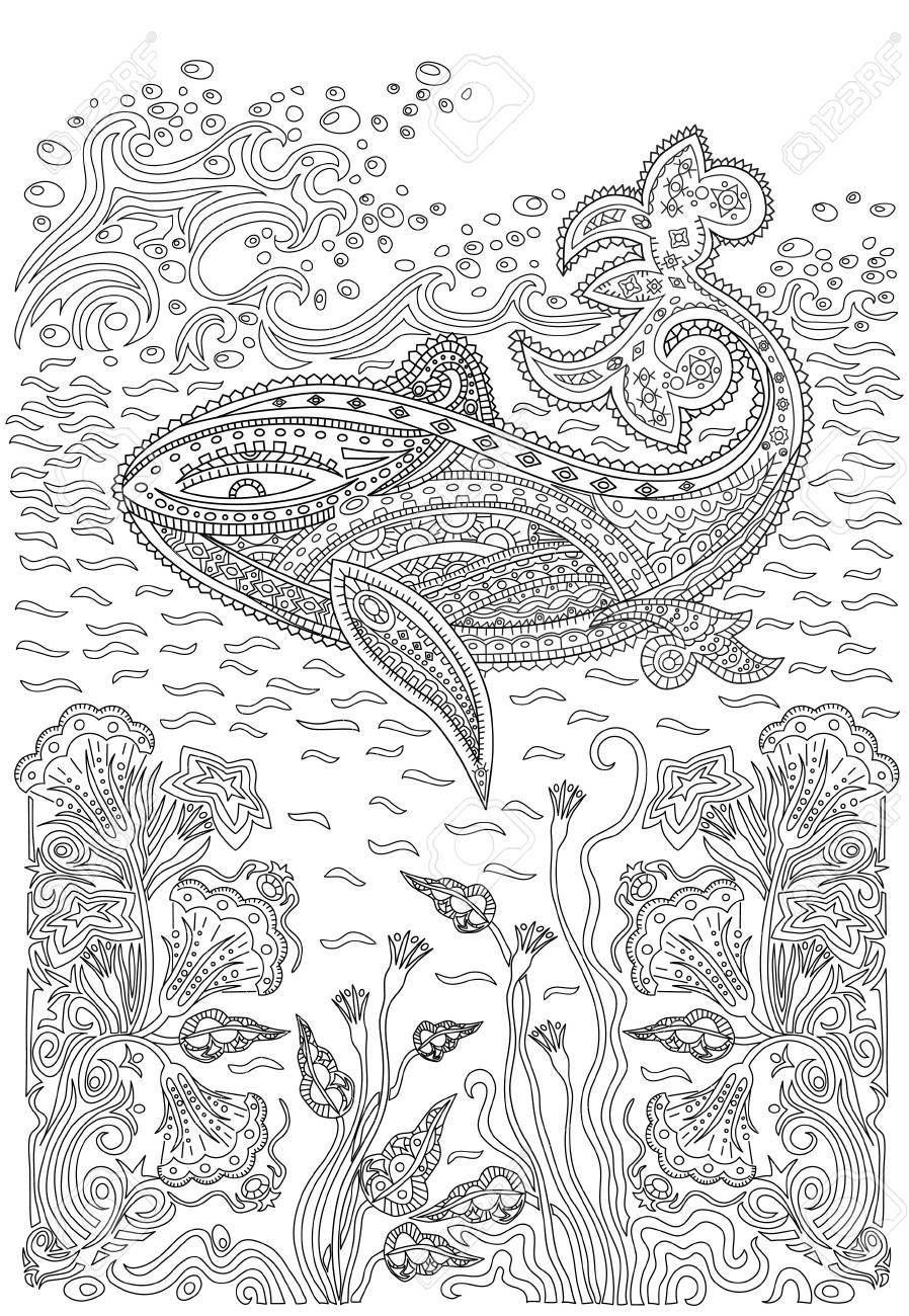 """Раскраски антистресс""""Морские животные"""". Обсуждение на ..."""
