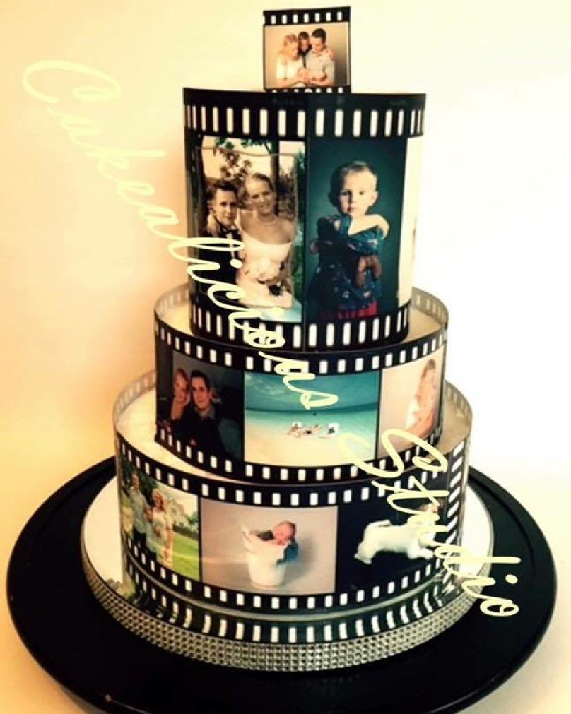 Another great edible image wrapped cake this ones from