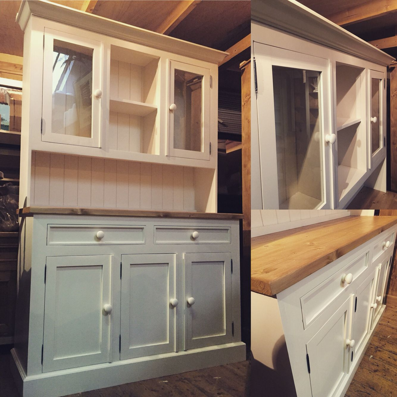 Classic kitchen dressers.. Made to any size and colour..