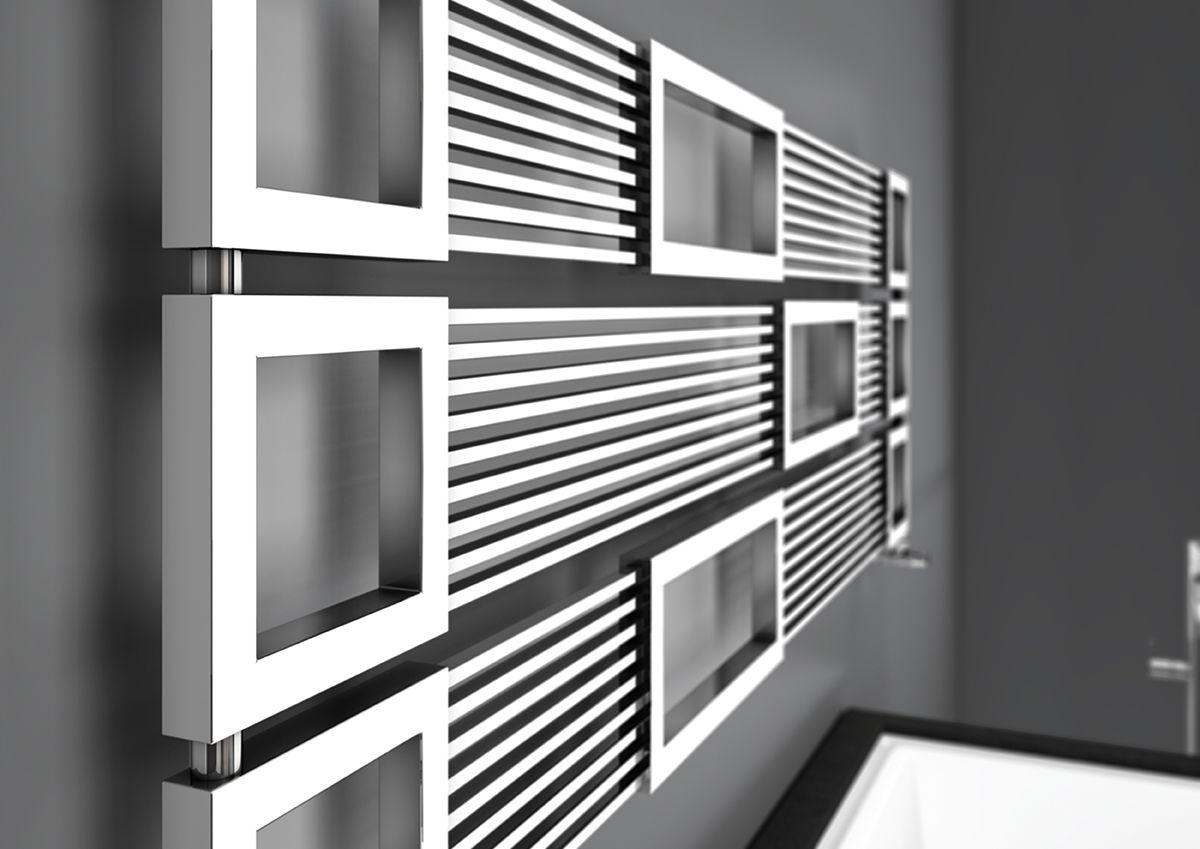 Radiatore bagno ~ Forma a raffinato radiatore modulare le cui ampie aperture lo