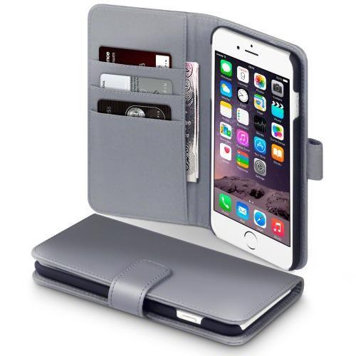 Köp Terrapin Läderplånbok Apple iPhone 6 6S Plus grå online  http ... a3dc91ec1cad7