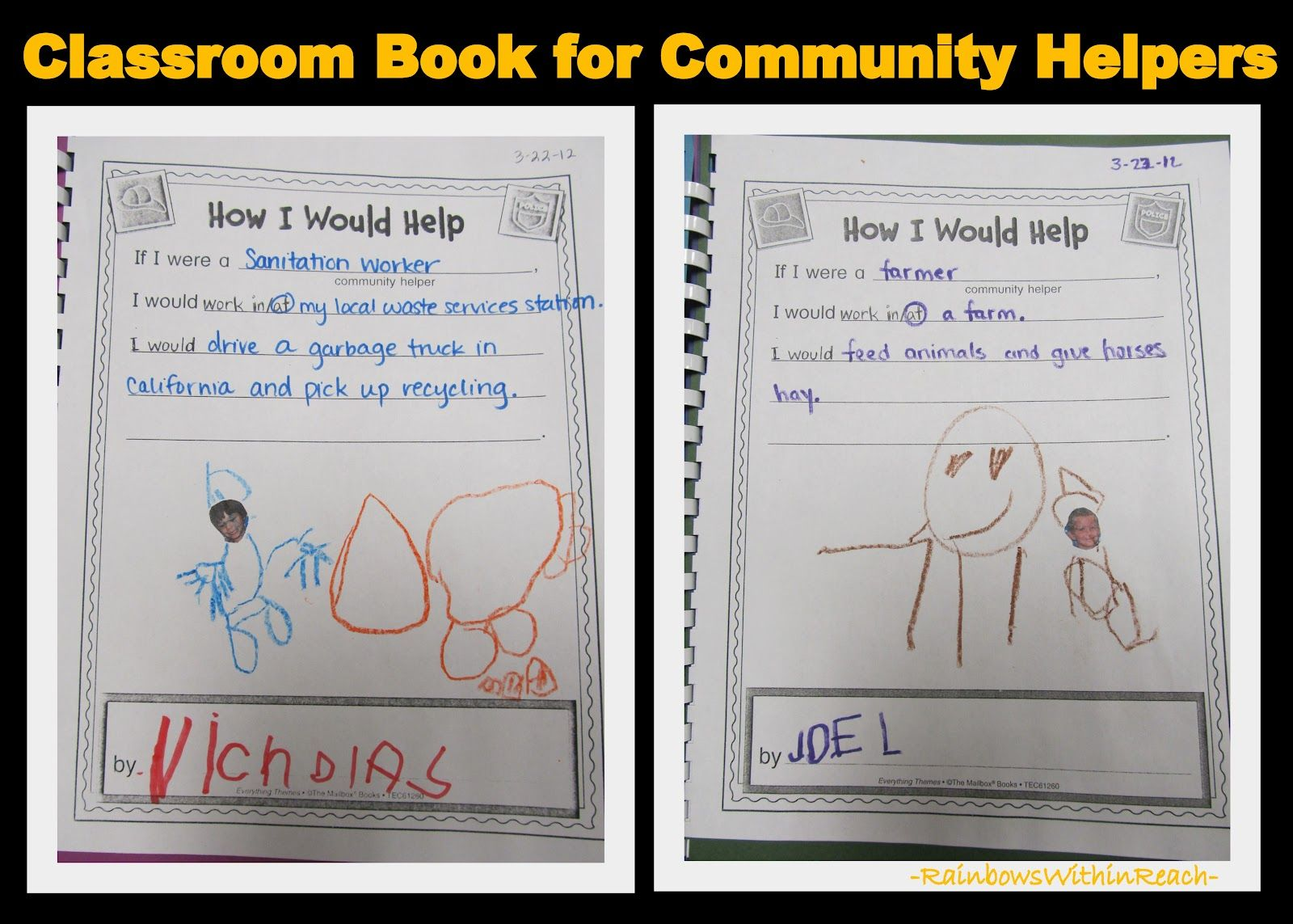 Community Helpers Class Book great tool for assessment
