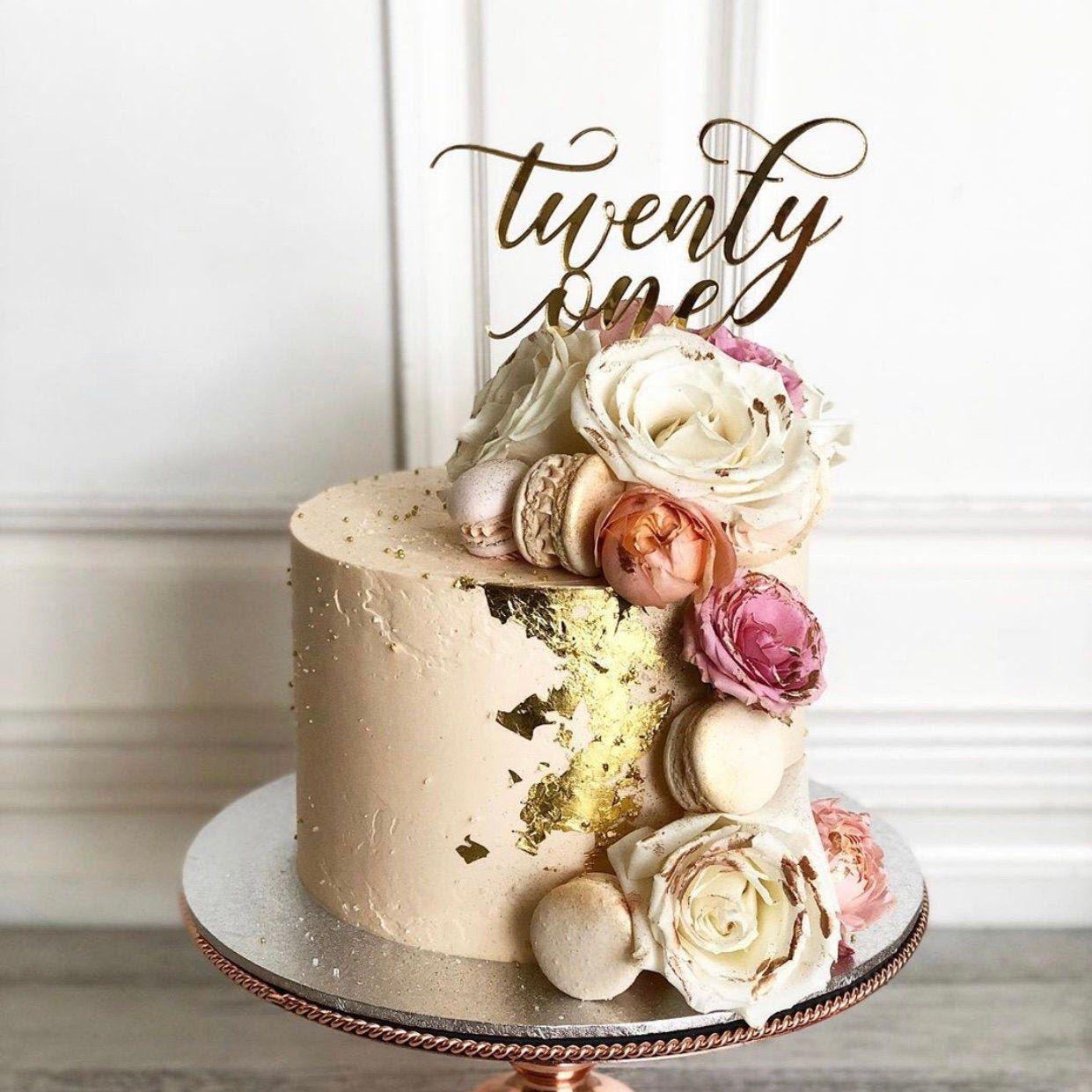 21st cake topper twenty first cake topper custom cake