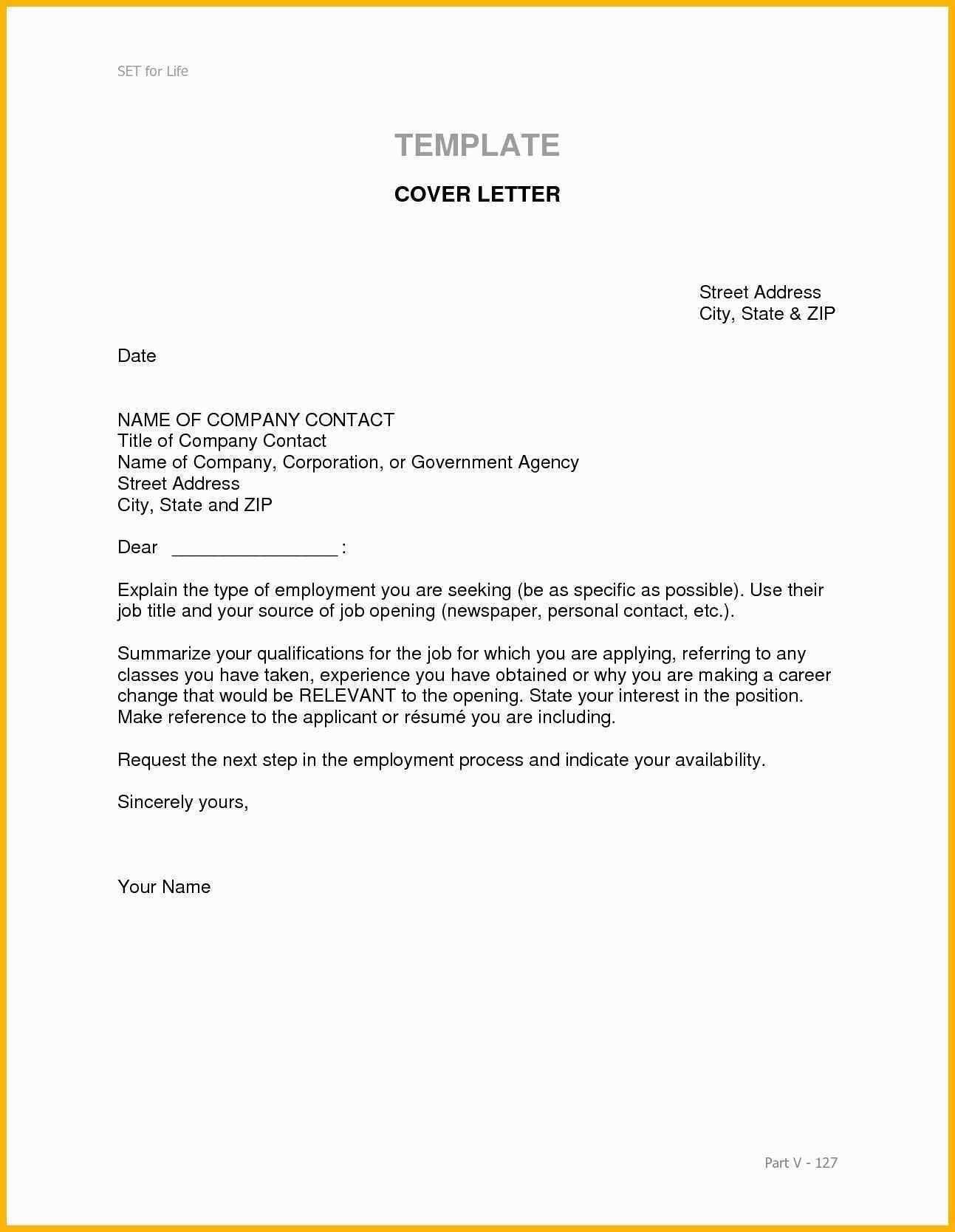 Career Change Cover Letter Cover Letter Format For Job Position
