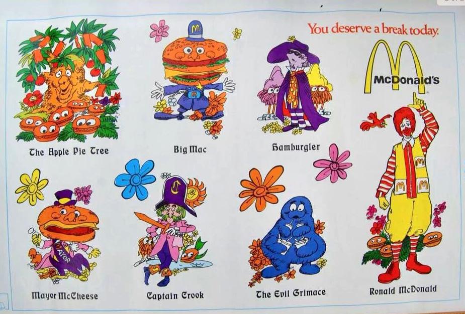 Vintage Ronald McDonald 1980 coloring calendar book collectible Original