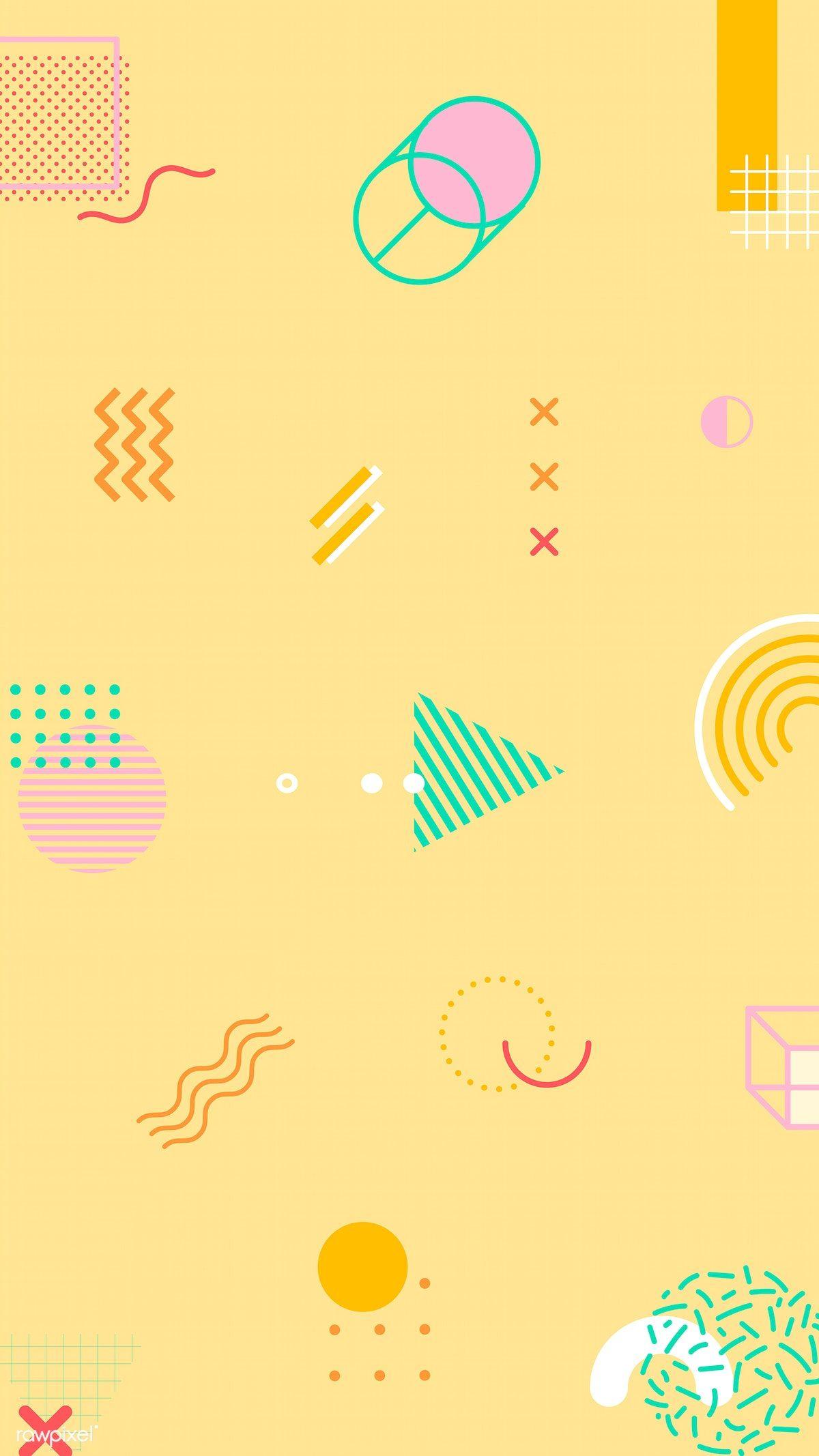Download premium illustration of Pastel Memphis Facebook