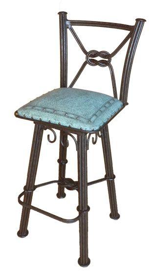 Awe Inspiring Turquoise Leather Bar Stools Iron Barstool With Back Creativecarmelina Interior Chair Design Creativecarmelinacom