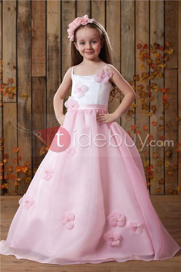 Lindo Vestido de Damita Ball Gown con Correas Espagueti Largo al ...