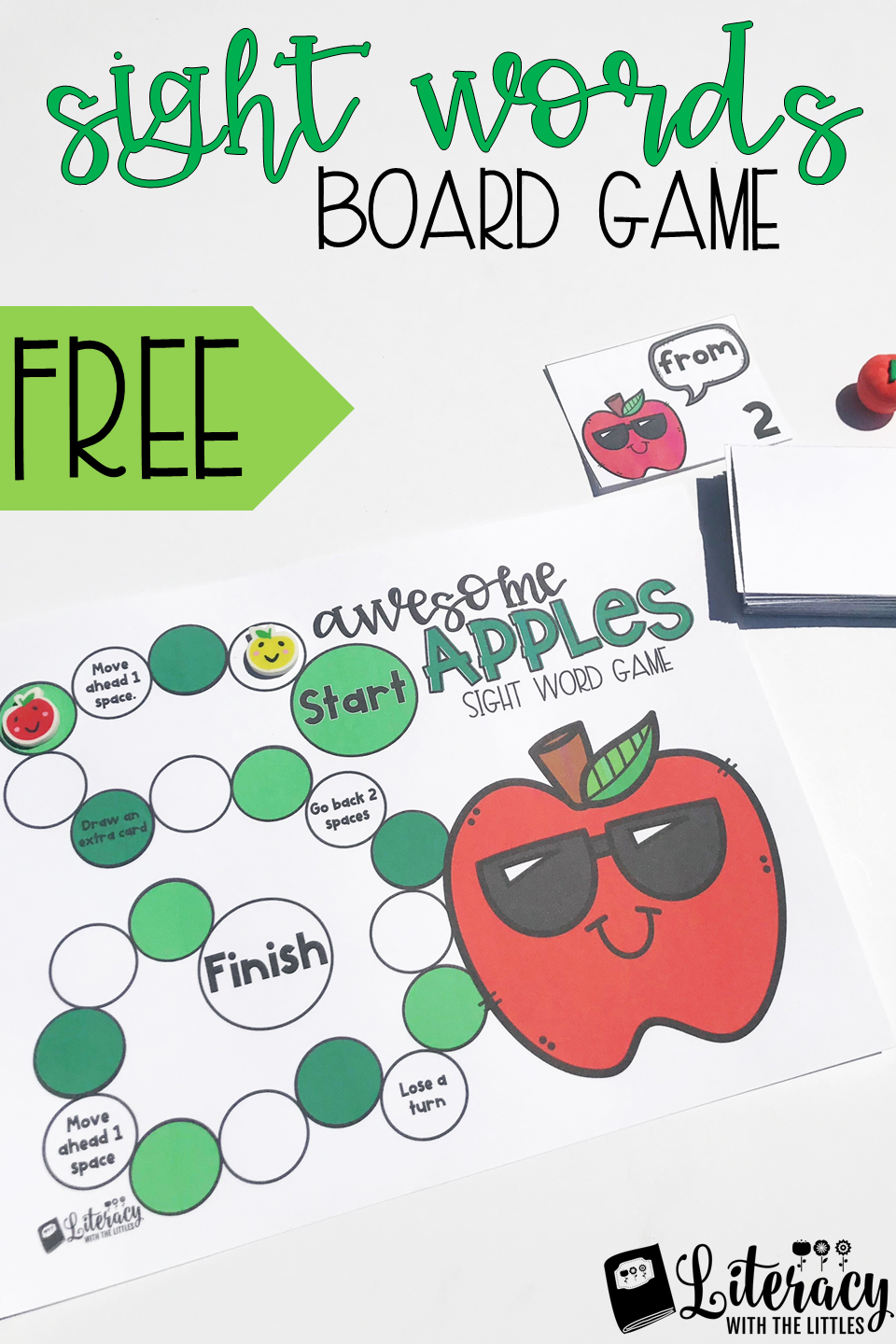Fall Sight Word Board Game A Fun Apple Themed Literacy Game That