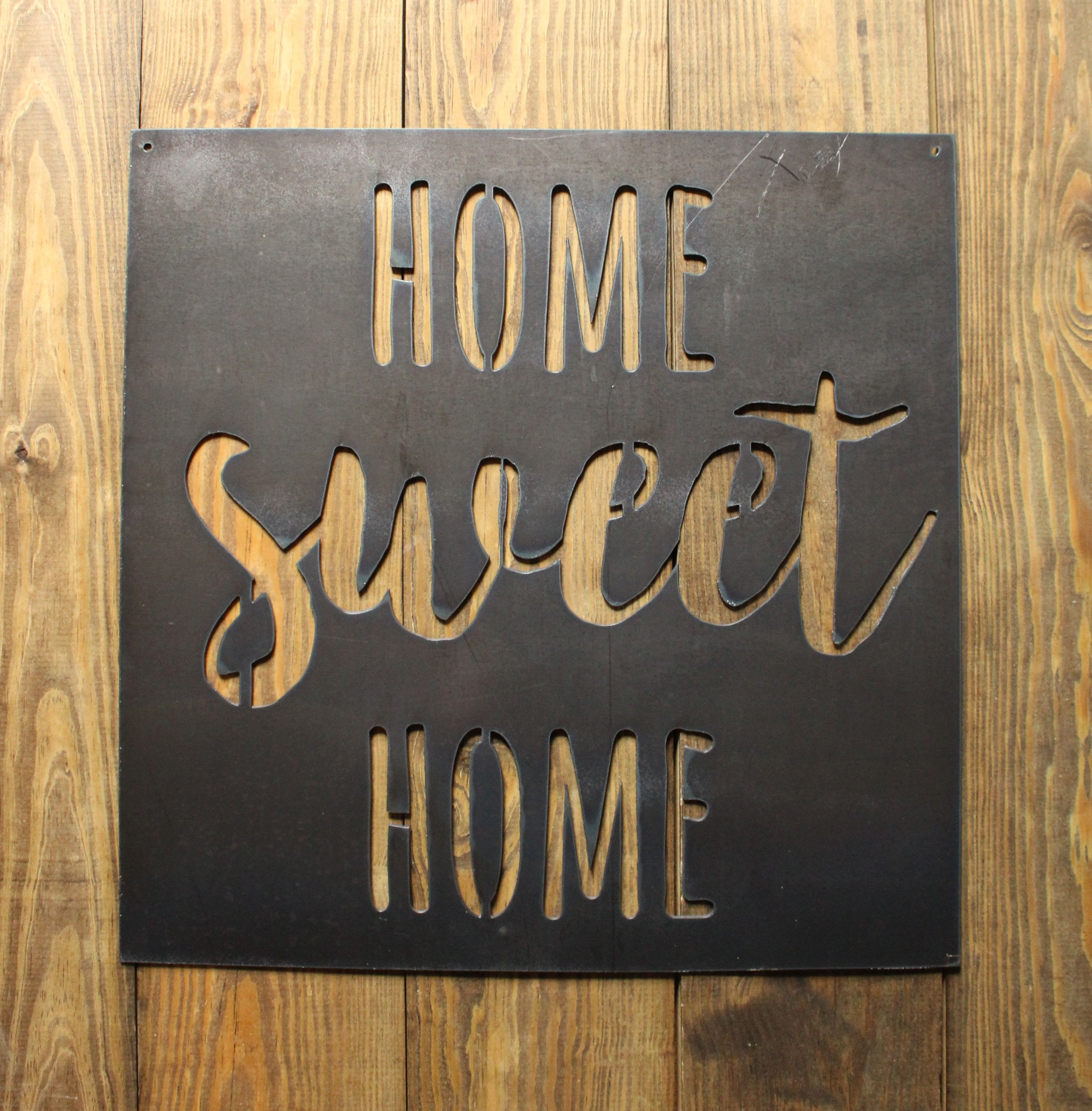 Home Sweet Home Rustic Metal Sign