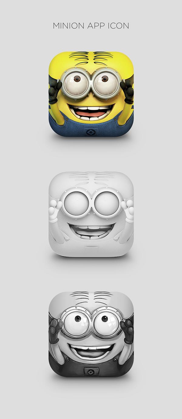 Minion App Icon on Behance 디자인