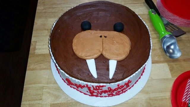 Walrus cake | Homemade birthday cakes, Baking with kids