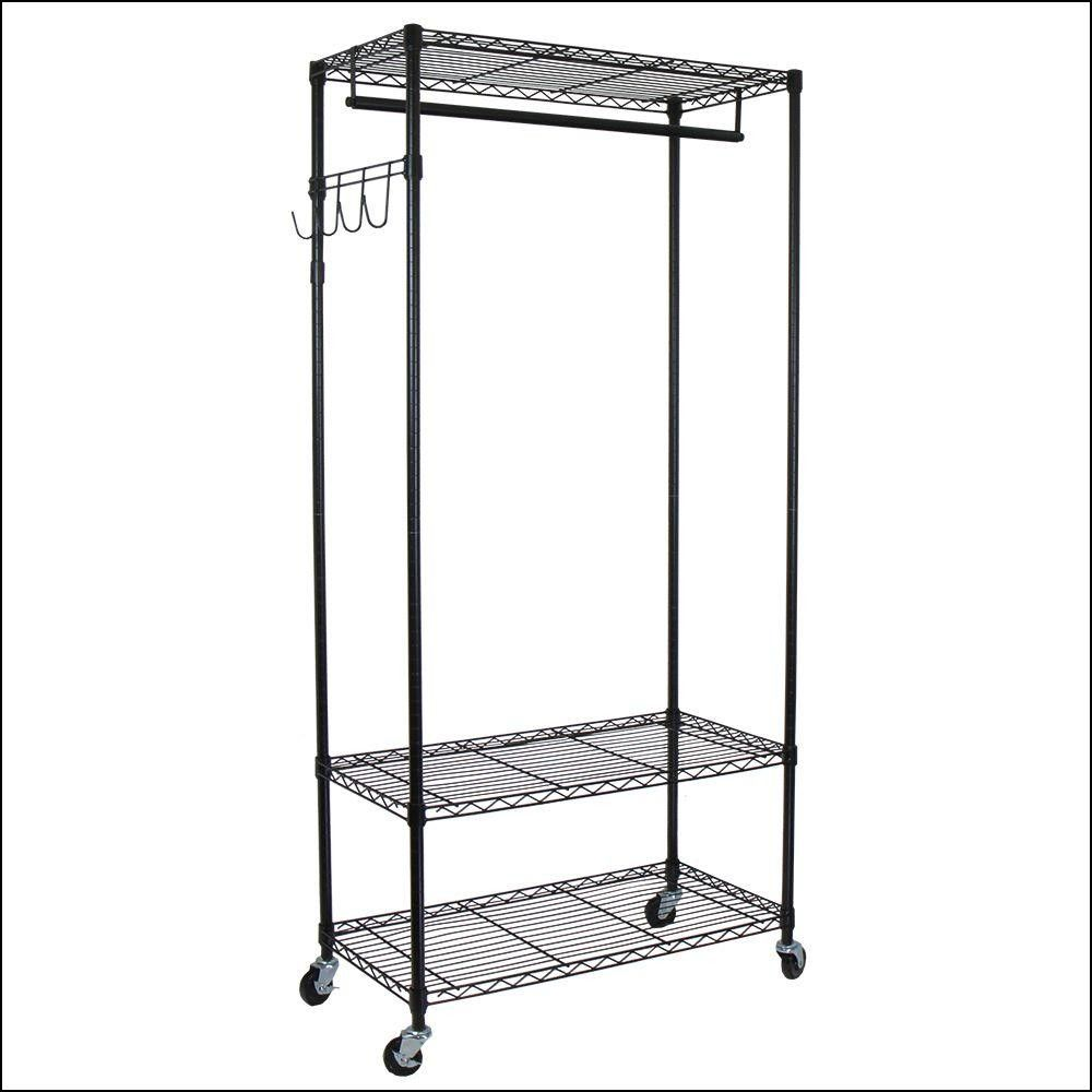 Home Depot Garment Rack Gorgeous Heavy Duty Garment Rack With Wheels  Wheels  Tires Gallery Decorating Inspiration