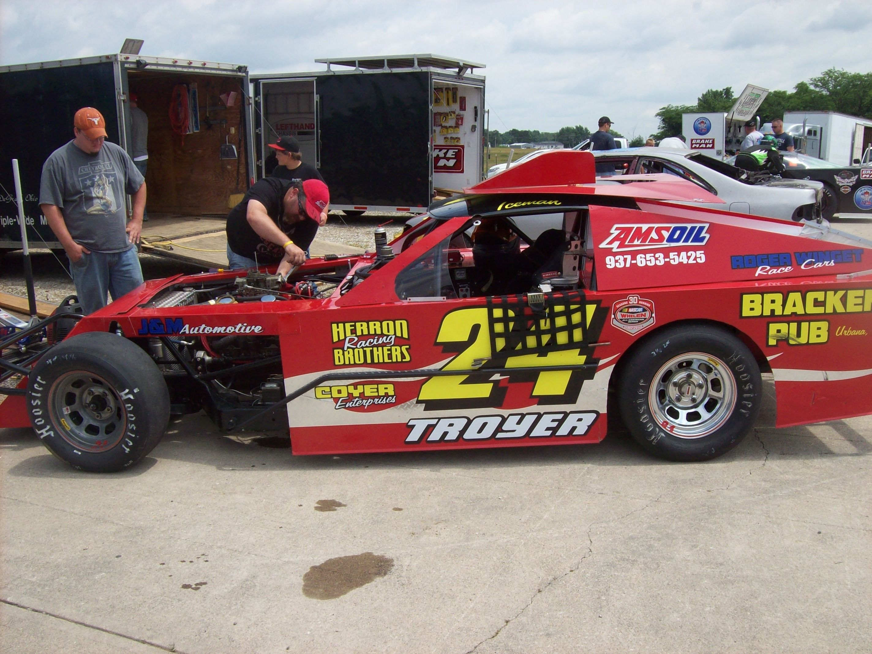 Troyer Race Cars: Austin Troyer's Modified At Shadybowl Speedway