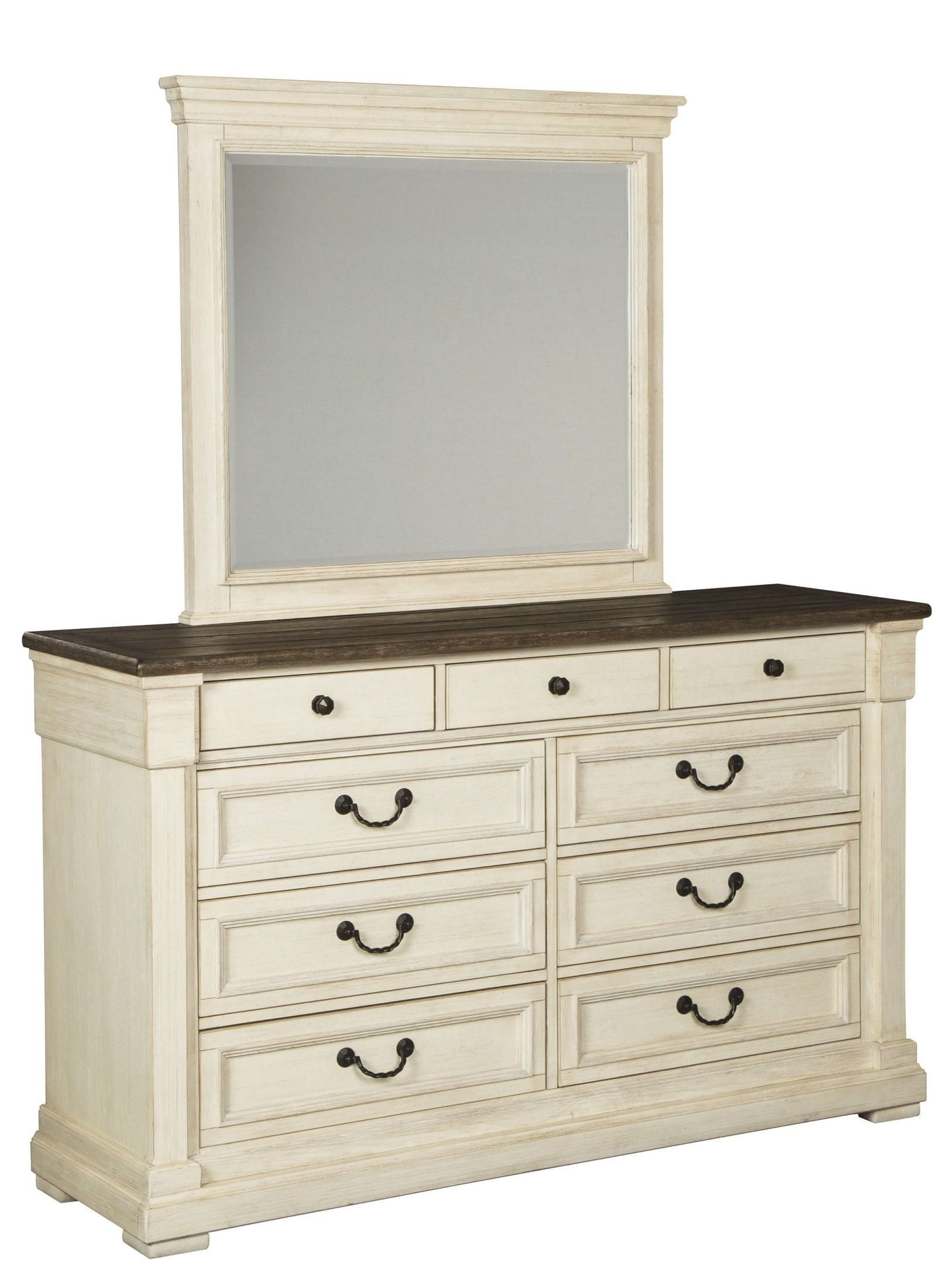 Best Bolanburg Two Tone Dresser White Paneling Repurposed 640 x 480