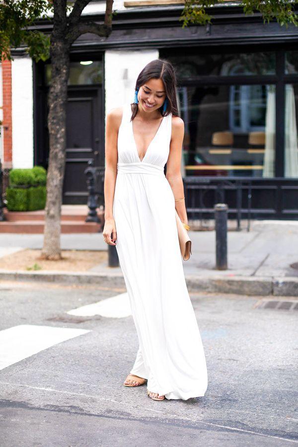 Grecian maxi dress white