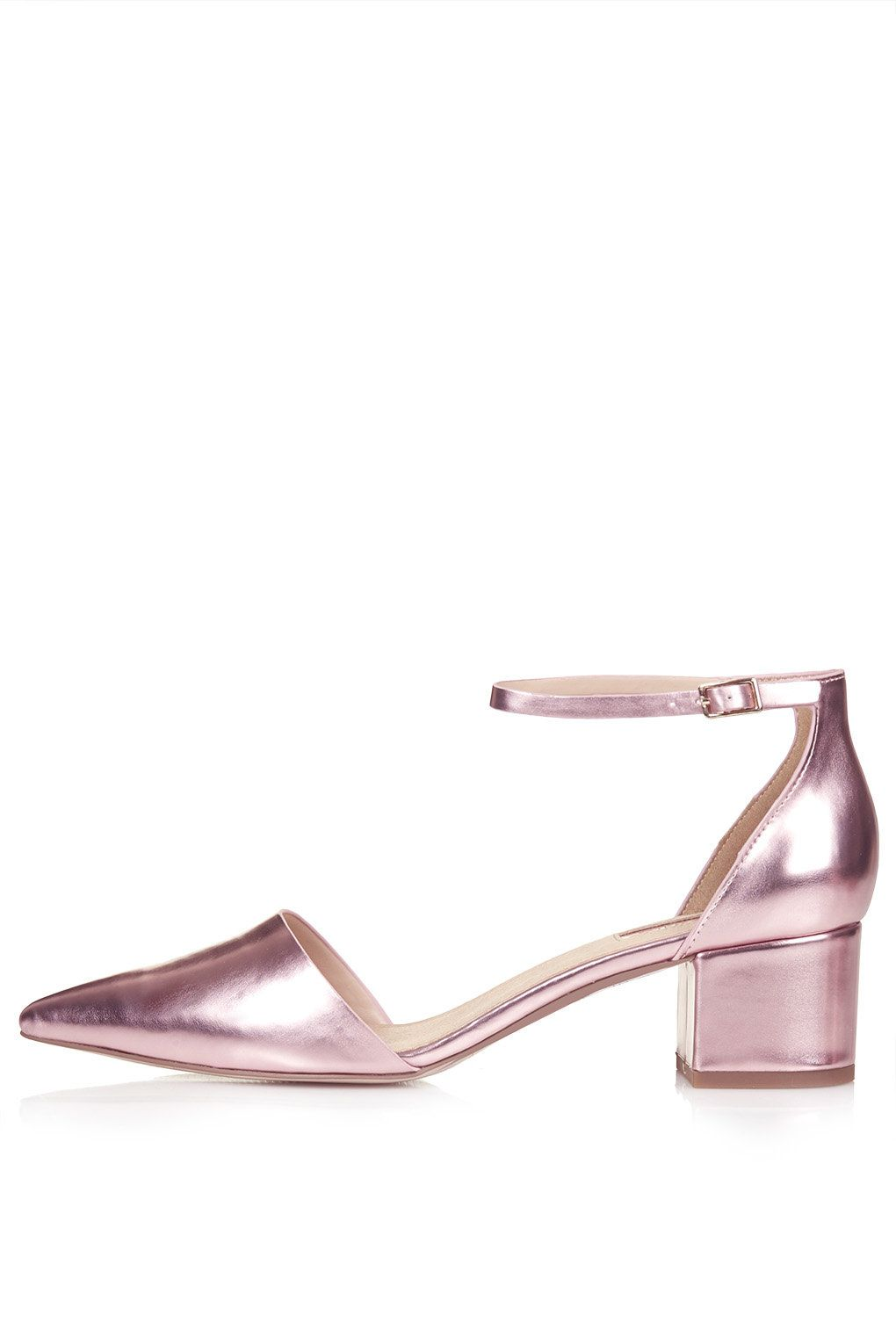 JIVE Metallic Mid-Heel Shoes - Heels - Shoes | Metallic shoes