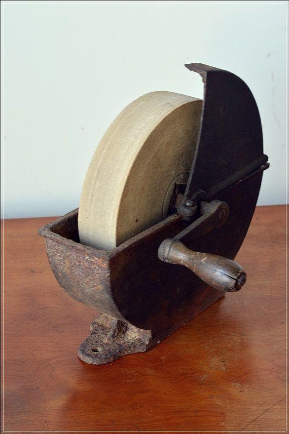 Vintage Antique Sword Sharpening Stone Vintage