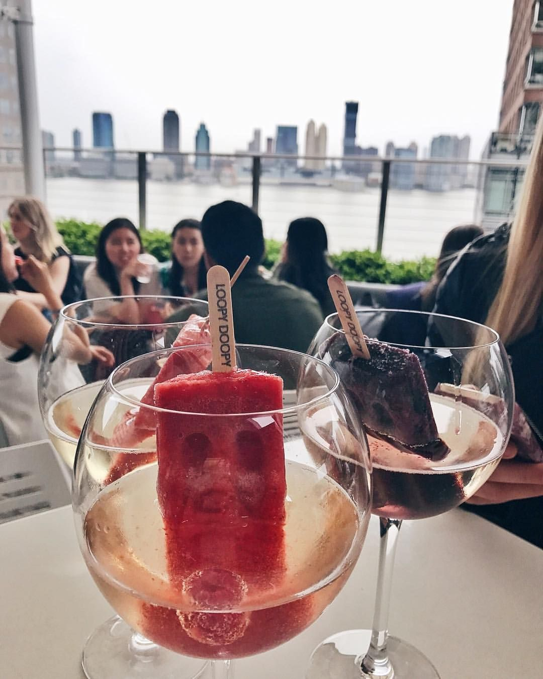 Prosecco With Gin Ice Pop Nyc Food Food Spot Mexican Restaurants Nyc