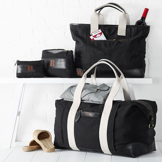Canvas with Leather Weekender Bag  536778484c081