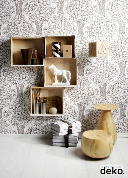 DIY: Wall Shelf of Wooden Boxes