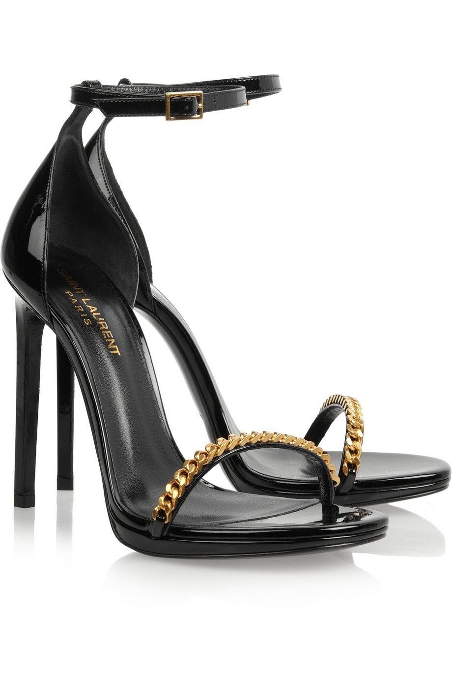 Yves Saint Laurent Patent Leather Embellished Sandals sale extremely free shipping 2014 unisex dJEhAFX8d