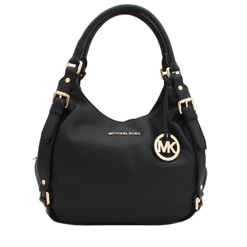 Michael Kors Beford Medium Shoulder Tote Bag- Black