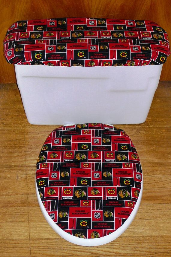 Fine Chicago Blackhawks Toilet Seat Cover And Tank Lid Cover Set Ibusinesslaw Wood Chair Design Ideas Ibusinesslaworg
