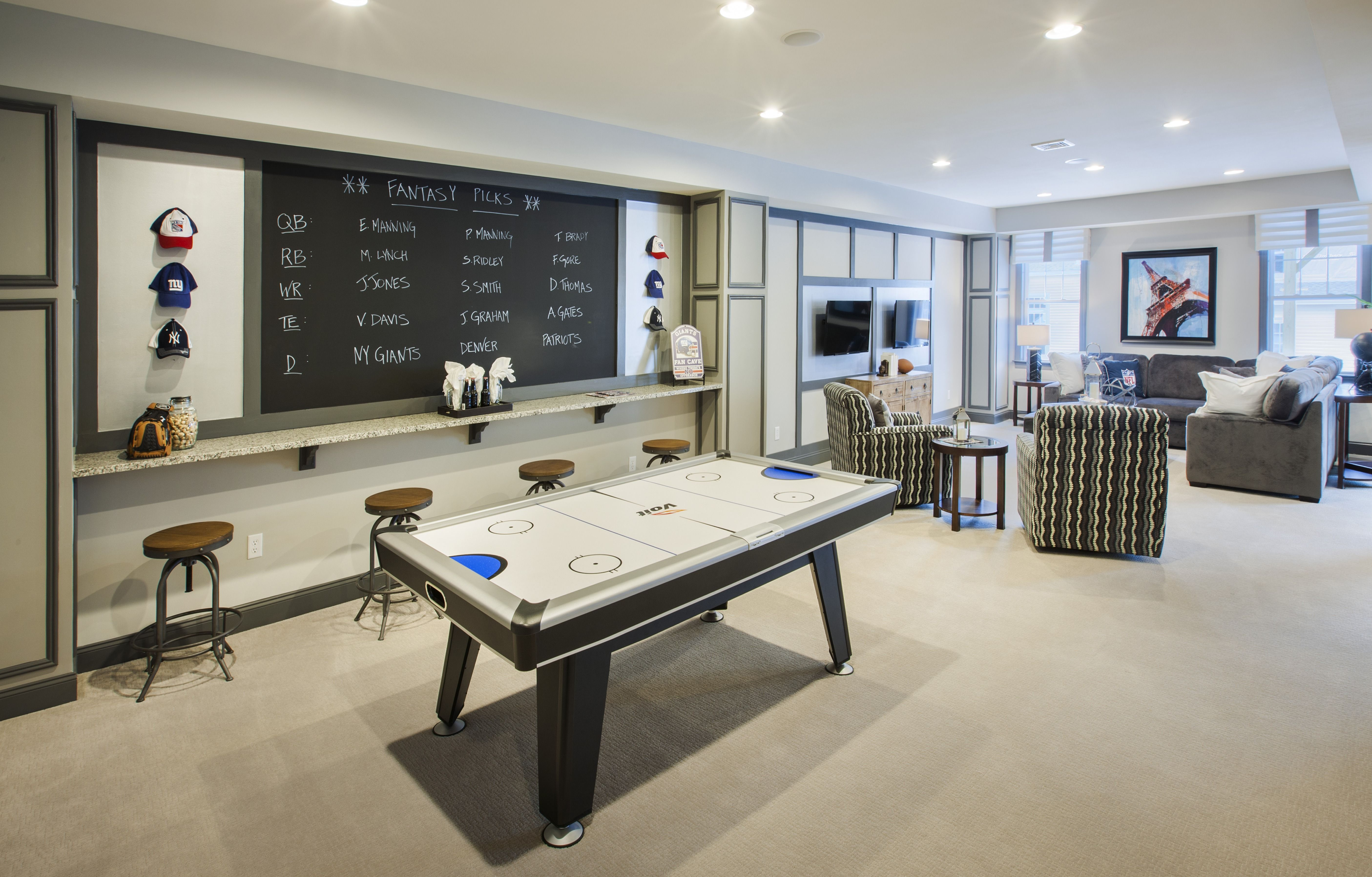 Connecticut Luxury New Homes For Sale By Toll Brothers Game Room Basement Garage Game Rooms Basement Decor