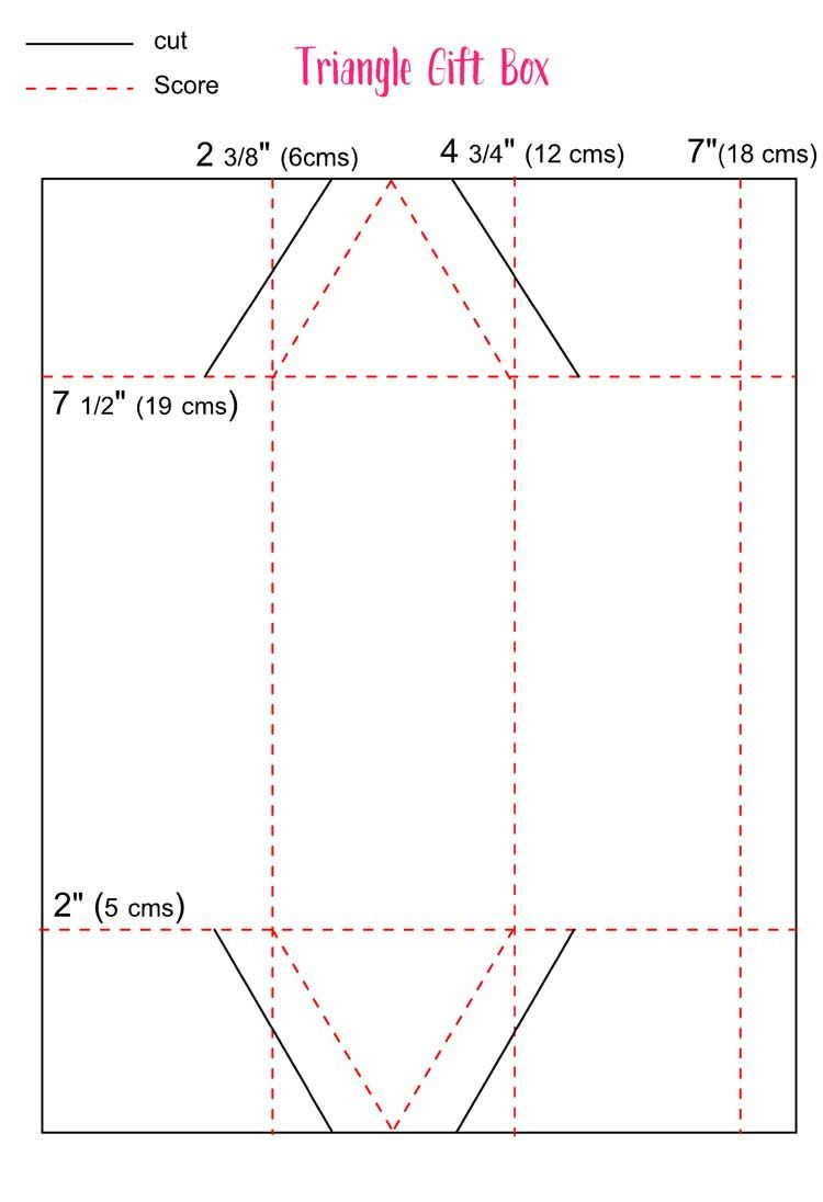 Triangle Treat Box Template | DIY cx | Pinterest | Box templates ...