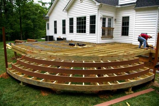 Best Curved Deck With Steps No Railing Wood Deck Designs 400 x 300