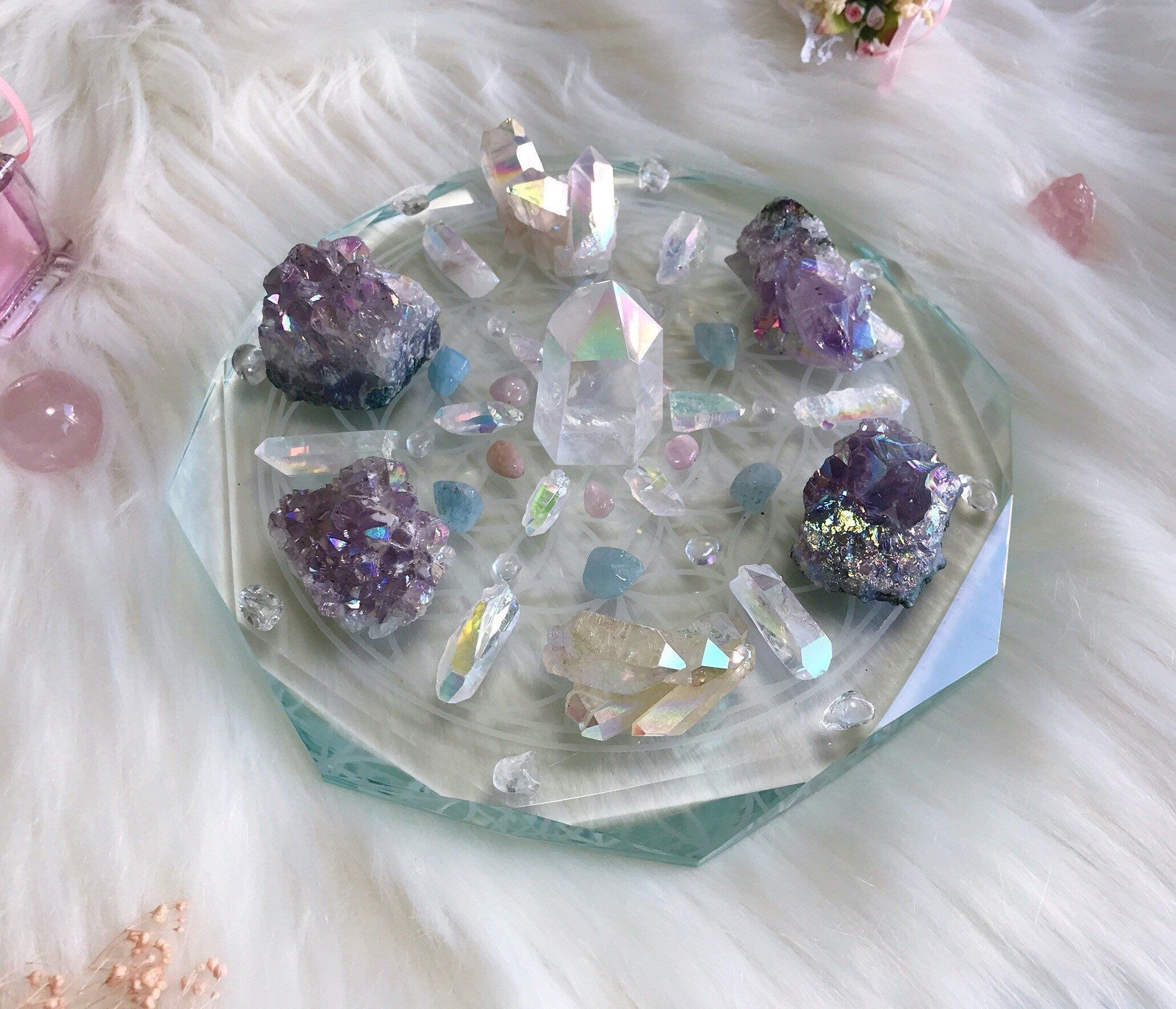 16cm Hope and Faith Complete Set of Crystal grid Etsy