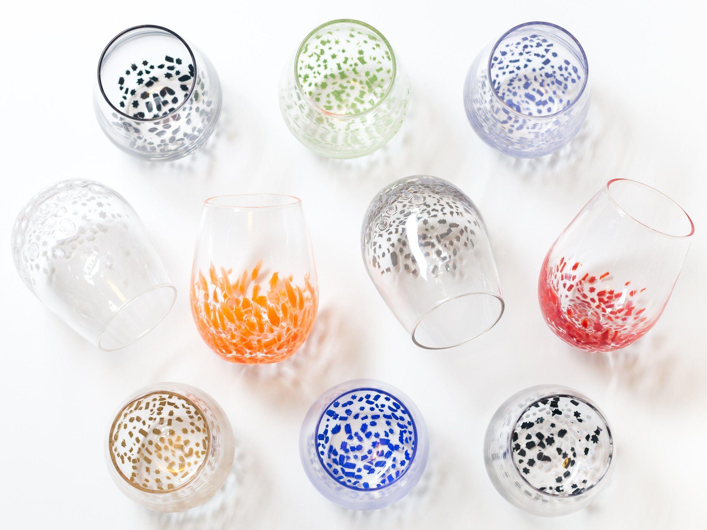 Small Star Wine Glasses By Aaron Baigelman Art Glass Drinkware