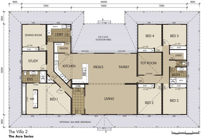 Villa 2 Floor Plan Country House Plans House Plans Unique Floor Plans