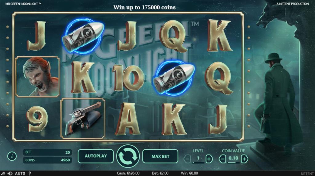 Mr Green Moonlight Slot Machine